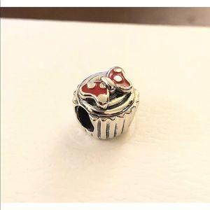 Pandora Minnie Cupcake Red Bow Charm 791463EN09